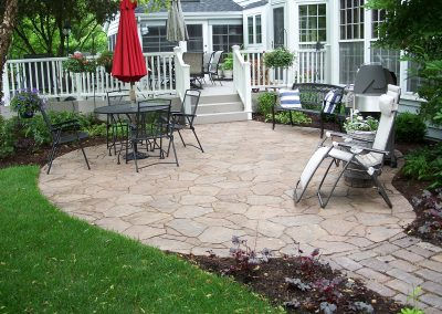Precast flagstone patio