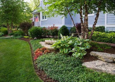 Outcropping Stone & Plantings